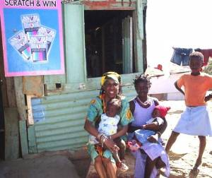 Shantytown In Katatura Namibia